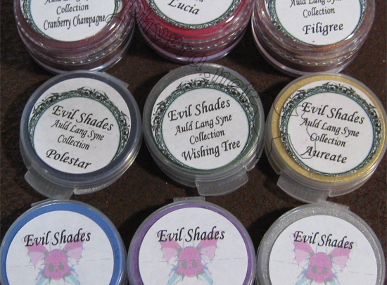 Evil Shades - Auld Lang Syne Collection Swatches
