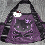 Hello Kitty Black & Purple Purse