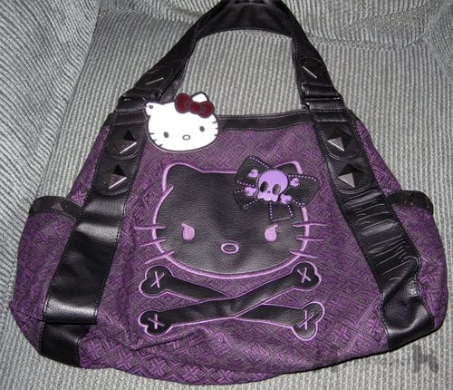 Hello Kitty Black & Purple Purse