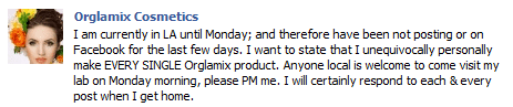 Update on Orglamix