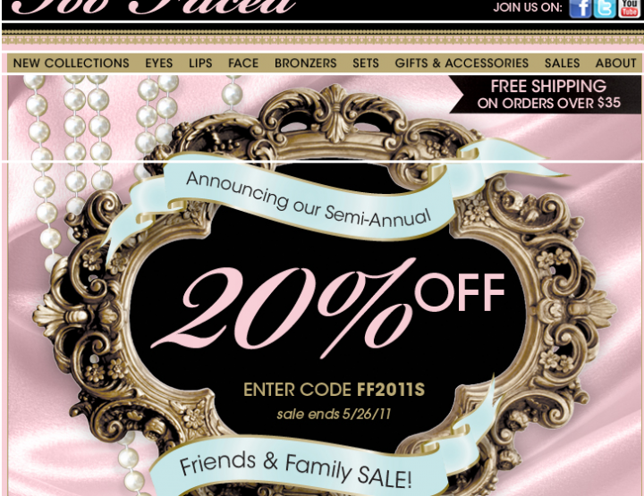 Too Faced Friends & Family Sale