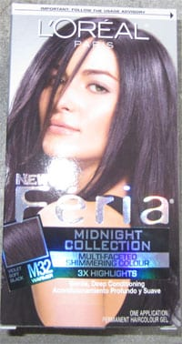 L'Oreal Feria's New Midnight Collection M32 Violet Soft Black - Review