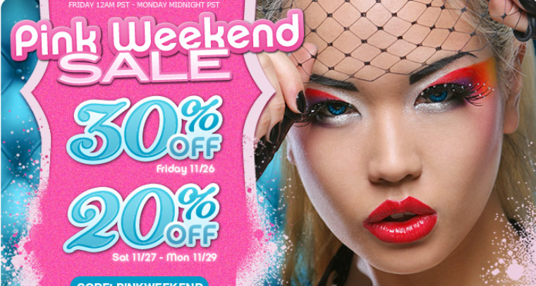 Sugarpill Pink Weekend Sale