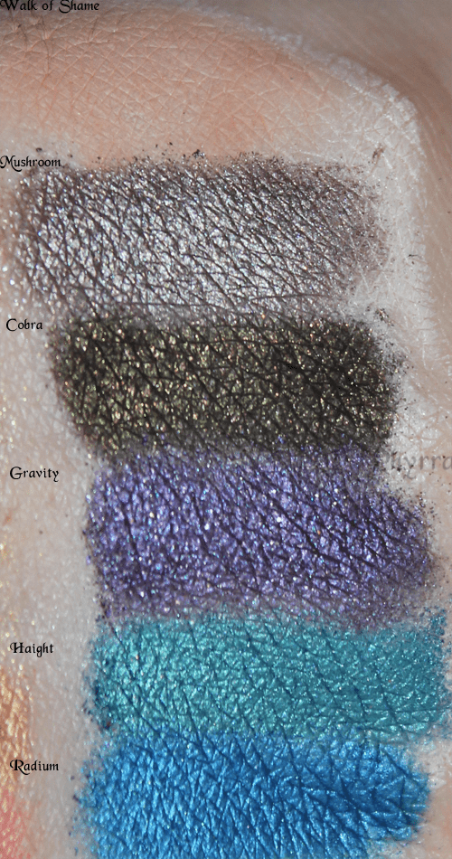 Urban Decay Build Your Own Palette Amp New Shadows Swatches
