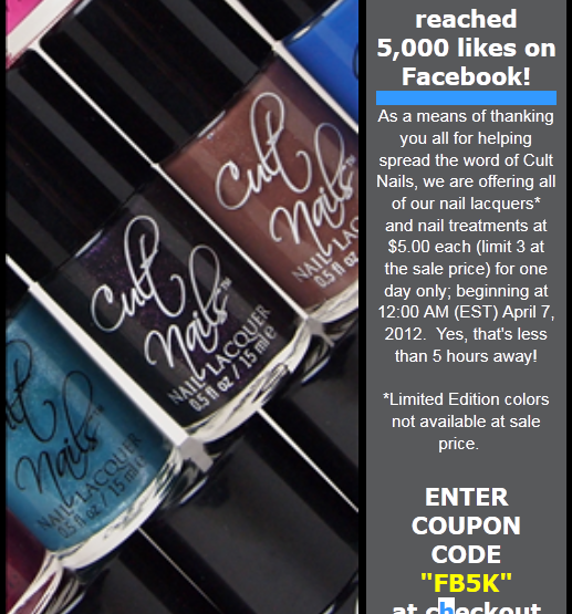 Cult Nails $5 Sale