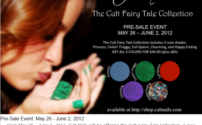 Cult Nails Cult Fairy Tales Pre-Sale Event!