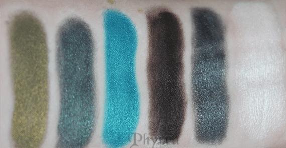 Emerald Pretty Eyeshadow Palette Swatches