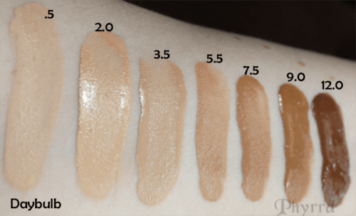 Urban Decay Naked Skin Weightless Ultra Definition Liquid Makeup Swatches