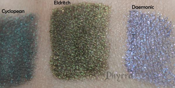 Geek Chic Cosmetics Cyclopean, Eldritch, Daemonic Swatch