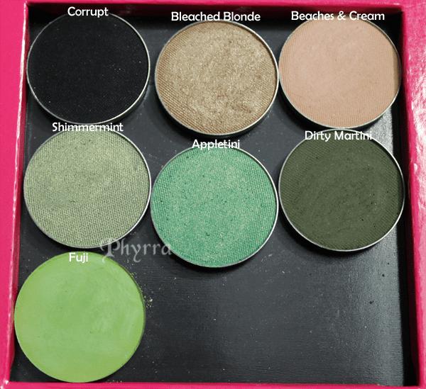 Makeup Geek Green Eyeshadow Swatches
