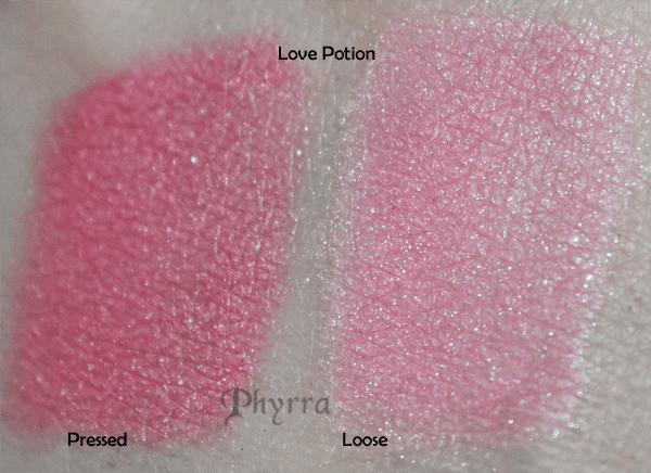 Fyrinnae Love Potion Swatch Comparison
