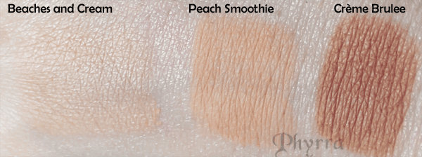 Makeup Geek Beaches and Cream Crème Brulee Peach Smoothie Swatch