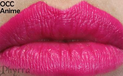 Obsessive Compulsive Cosmetics Anime Lip Tar Lip Swatch