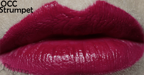 Obsessive Compulsive cosmetics Strumpet Lip Tar Swatch