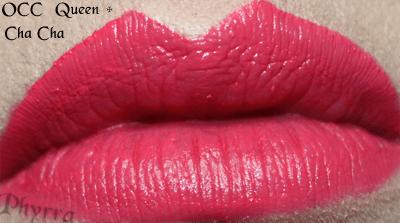 Obsessive Complusive Cosmetics Queen Cha Cha Mix Lip Tar Lip Swatch
