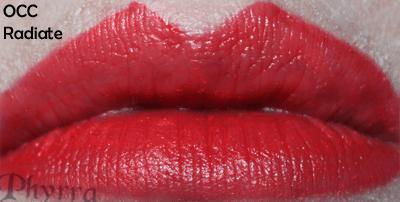 Obsessive Compulsive Cosmetics Radiate Lip Tar Swatch