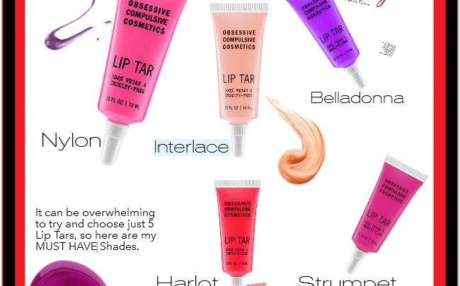 5 Must Have Obsessive Compulsive Cosmetics Lip Tars