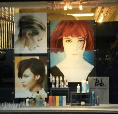 gorgeous red hair at serena's salon