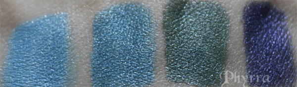 Meow Deck Your Halls Blues Swatches