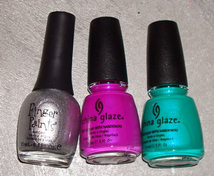 China Glaze - Turned Up Turquoise & Purple Panic