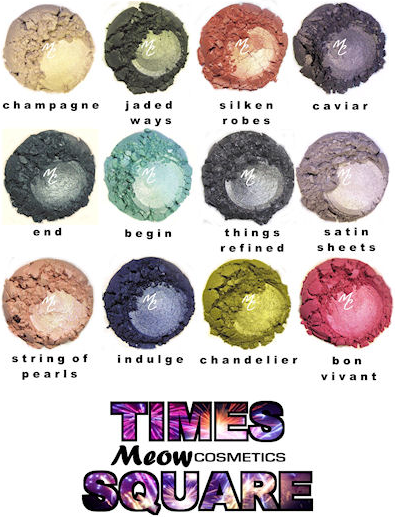 Meow Cosmetics Times Square Collection Review and Swatches