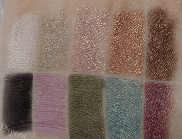 Urban Decay Ammo Palette Swatches