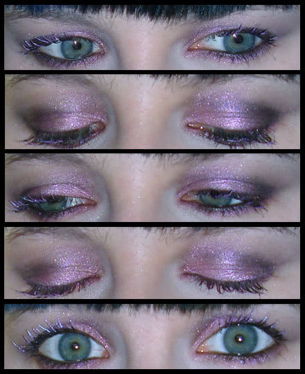 A Pink and Black Smoky Eye, named On Her Black Wings