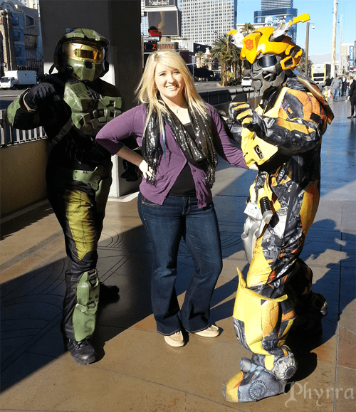 Kristy with Bumblebee