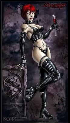 Chastity Marks - Vampire Look