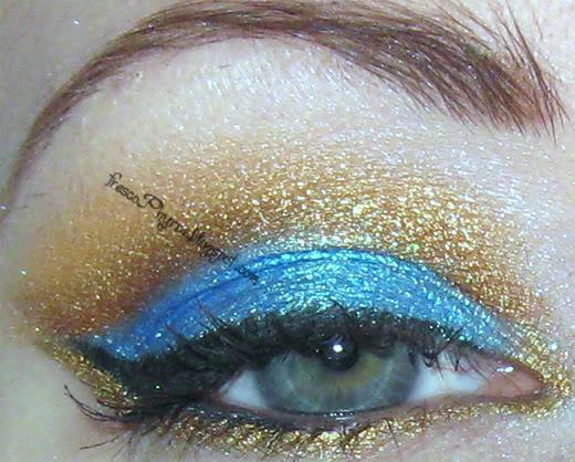 Aqua & Gold - Eyes & Nails