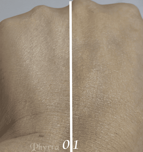 Paula's Choice RESIST Instant Smoothing Anti-Aging Foundation 0 Porcelain and 1 Fair / Light Foundation Swatches