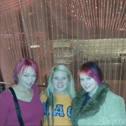 With Crystal and Kristy at the Cosmopolitan Hotel