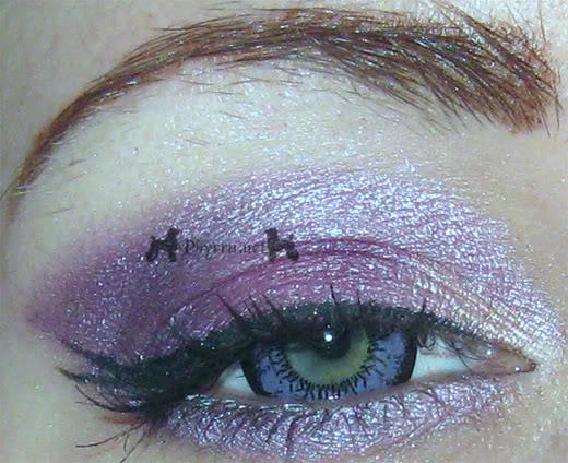 Purple MAC Look