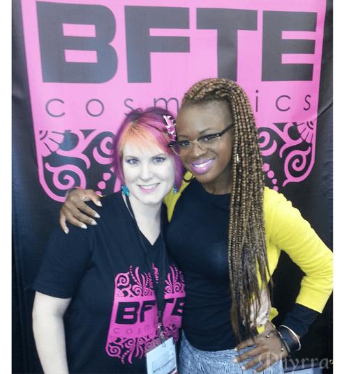 Me and Safia of Lipstick Mixtapes