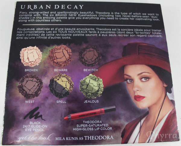 Urban Decay Disney Oz the Great and Powerful the Theodora Palette