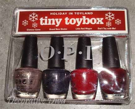 OPI's Holiday in Toyland tiny Toybox