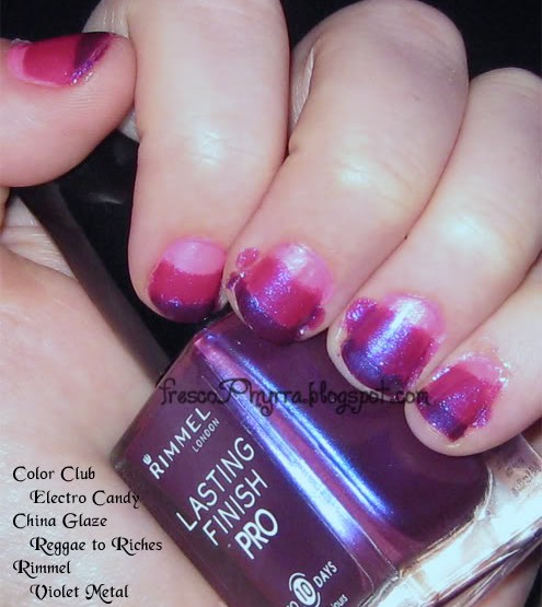 Tri-color Manicure