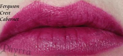 Wet n' Wild Fergie Ferguson Crest Cabernet Lipstick Swatch