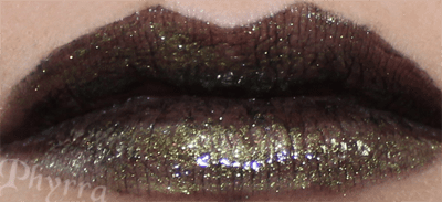 Wet n' Wild Fergie Pagan Angel Lipstick with Venomous Cosmetics Venom gloss