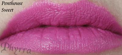 Wet n' Wild Penthouse Sweet Lipstick Swatch