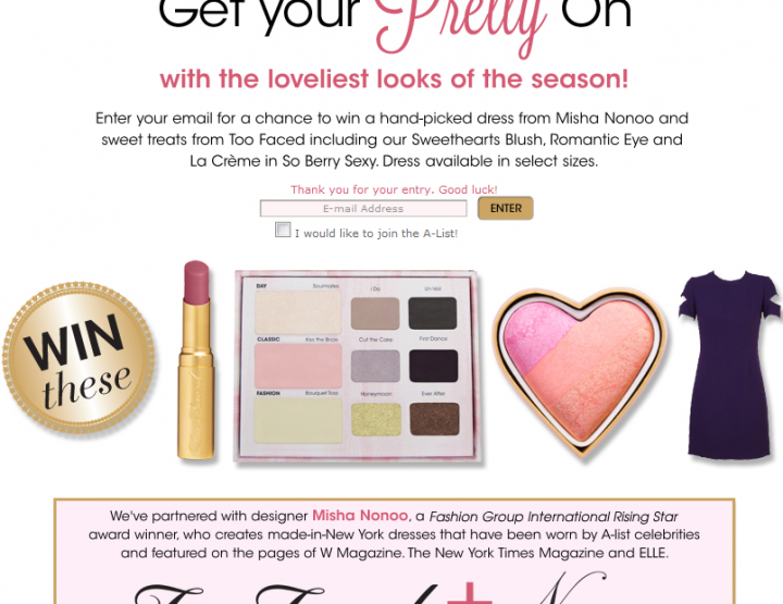 Awesome Too Faced Contest!
