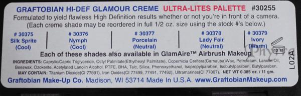Graftobian HD High-Definition Glamour Creme Ultra Lite Palette