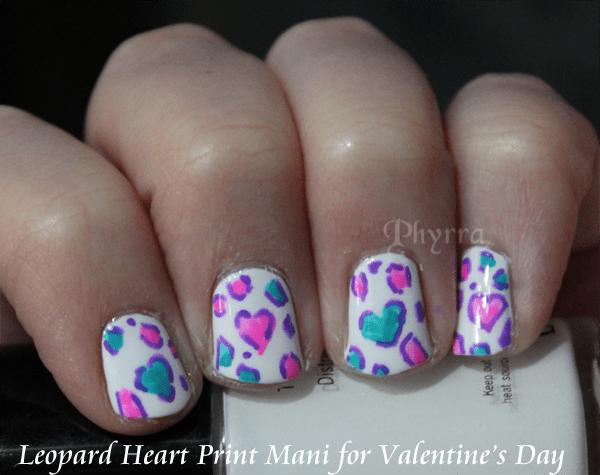 Valentine's Day Leopard Heart Print Mani Nail Art Tutorial
