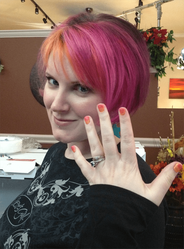 Phyrra flashes her mani