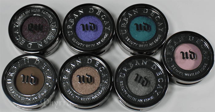 7 New Eyeshadows From Urban Decay Swatches On Pale Skin