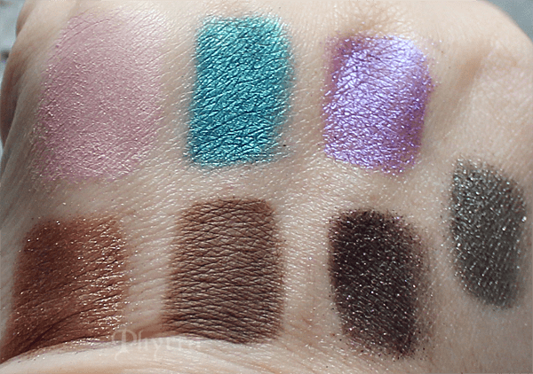 Urban Decay Heartless, Deep End, Omen, Snare, Sidecar, Faint, Uncut Swatches