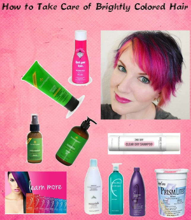 How to take care of brightly colored hair