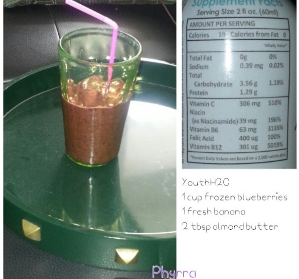 Blueberry Smoothie with youthH2O