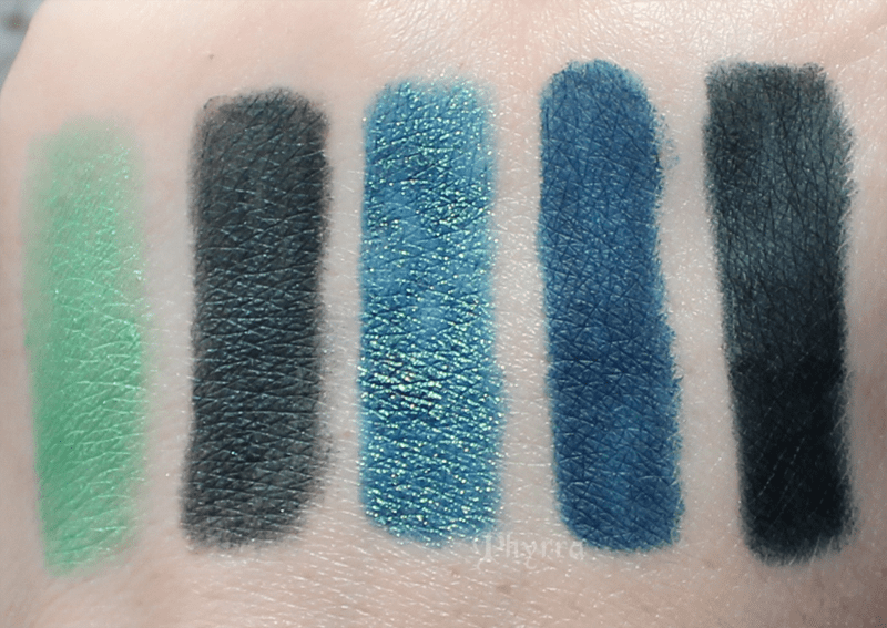Urban Decay Freak, Loaded, Junkie, Mainline, Invasion, Swatches, Comparison, Review