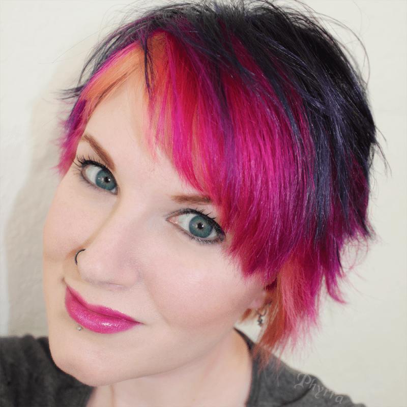 Pink Orange Purple Long Textured Pixie